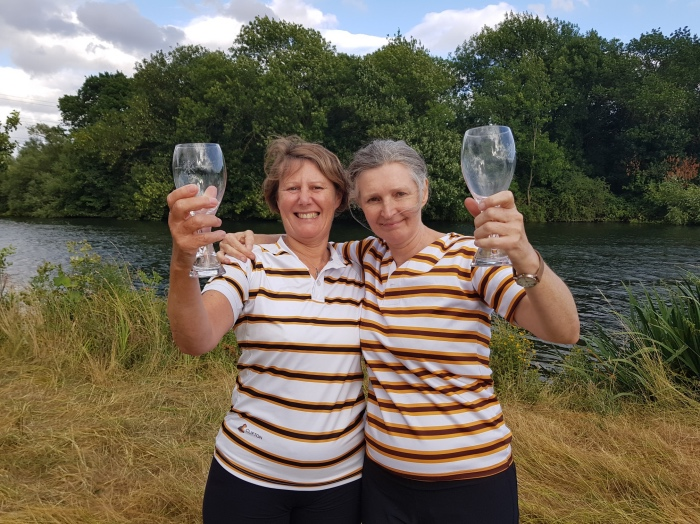20180728_Sally and sarah Punting winners